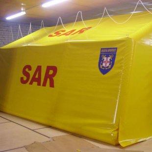 Piepūšamā karkasa telts priekš SAR