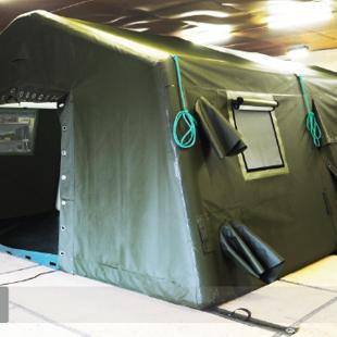 militārās piepūšamās teltis