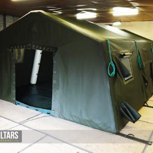 piepūšamās konstrukcijas armijas teltis