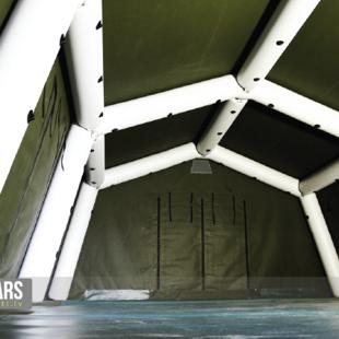militārās/armijas teltis ar piepūšamu karkasu