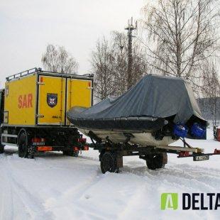 Glābšanas dienesta motorlaivas pārsegs